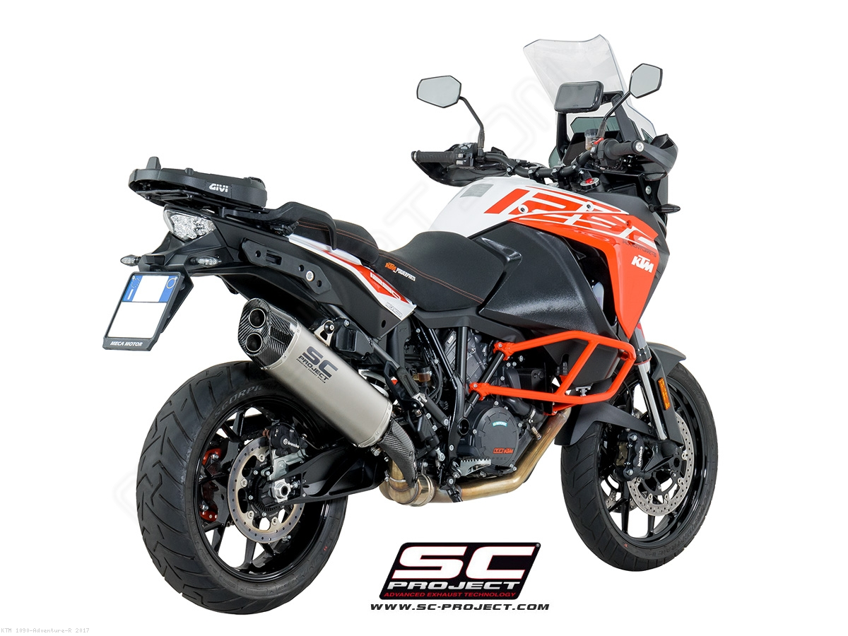 adventure exhaust by sc project ktm 1090 adventure r 2017 ktm08 86t. Black Bedroom Furniture Sets. Home Design Ideas