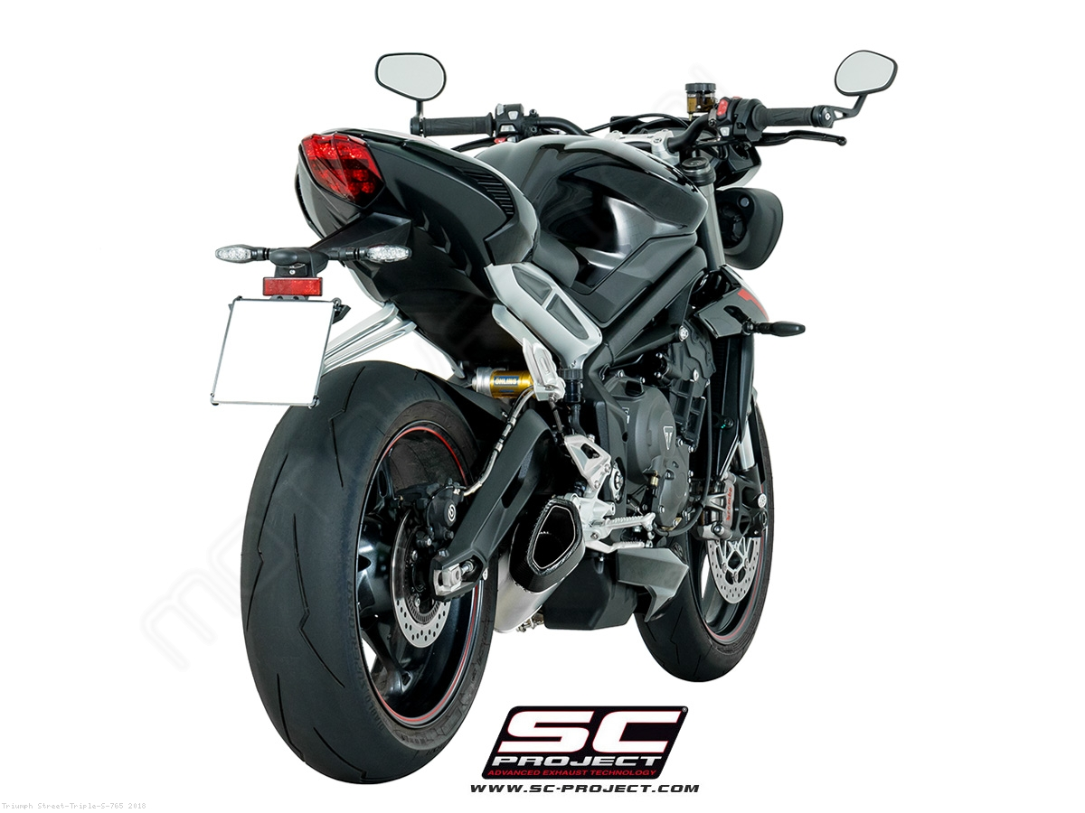 sc1 r exhaust by sc project triumph street triple s 765 2018 t18 93t. Black Bedroom Furniture Sets. Home Design Ideas