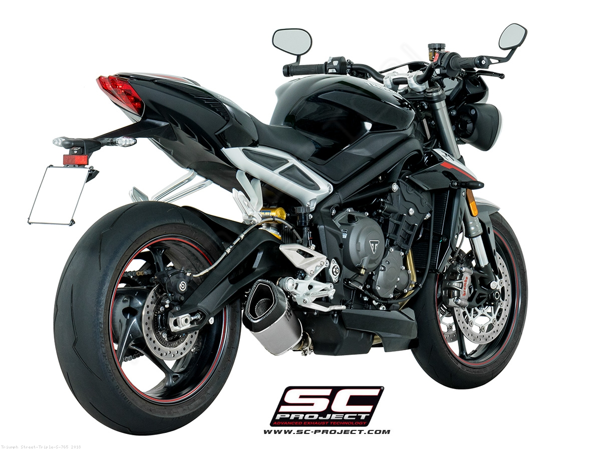 sc1 r exhaust by sc project triumph street triple s 765. Black Bedroom Furniture Sets. Home Design Ideas