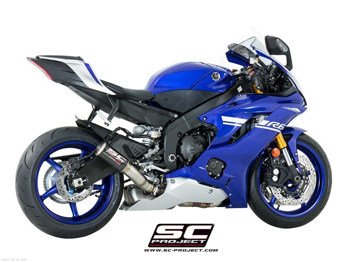 Cr T High Mount Exhaust By Sc Project Yamaha Yzf R6