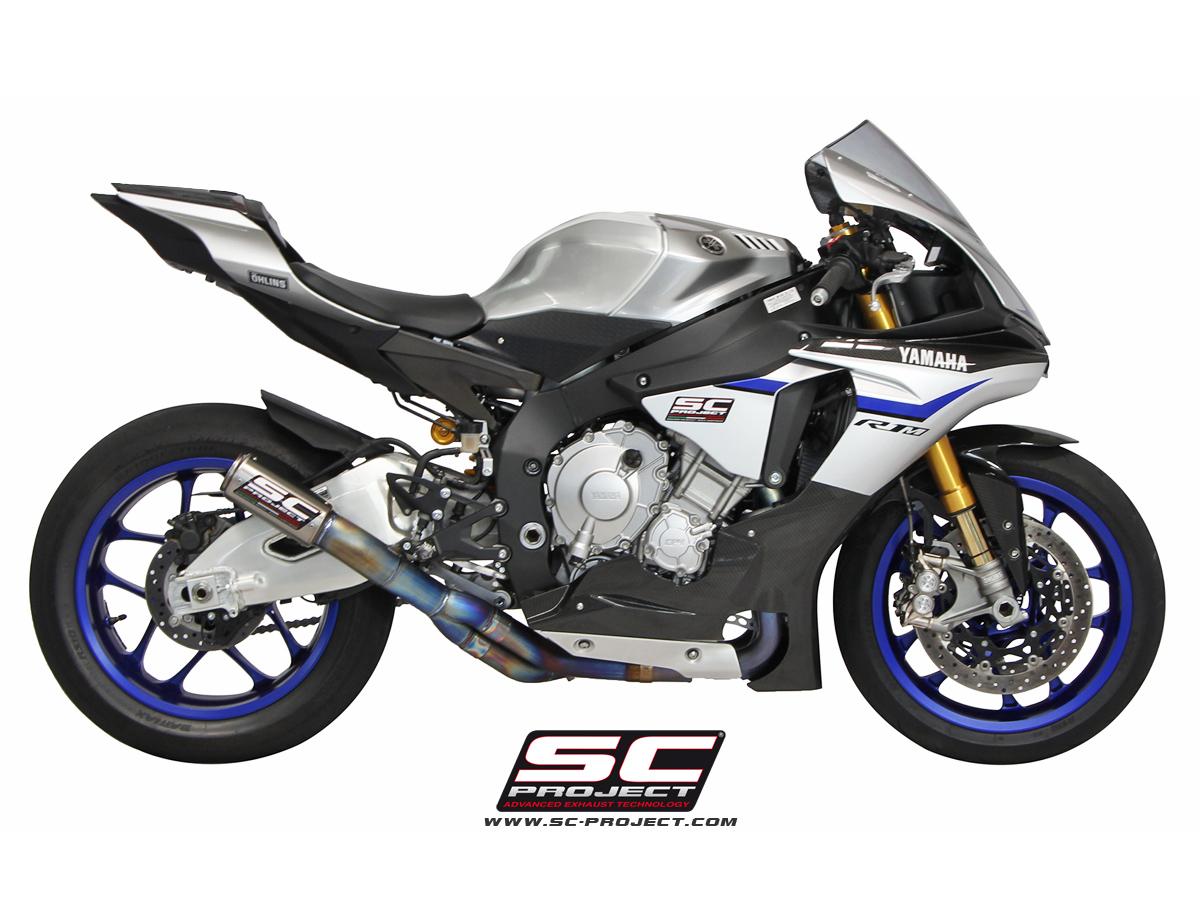 Yamaha R1 / R1M (2015+ series) CR-T De-Cat Exhaust by SC Project