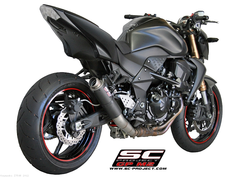 GP M2 Exhaust By SC Project Kawasaki Z750R 2012