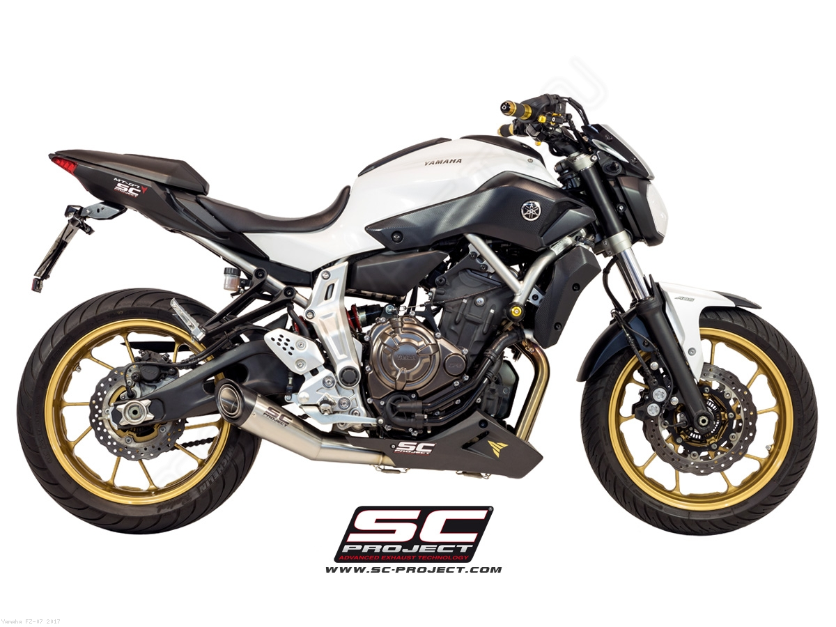 s1 full system exhaust by sc project yamaha fz 07 2017 y14 c41a. Black Bedroom Furniture Sets. Home Design Ideas