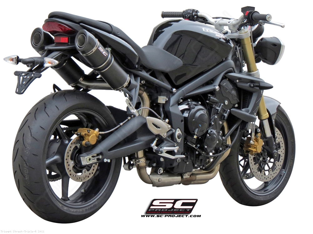 gp tech exhaust by sc project triumph street triple r 2011 t02 28c. Black Bedroom Furniture Sets. Home Design Ideas