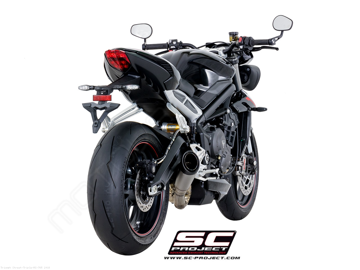 s1 exhaust by sc project triumph street triple rs 765 2018 t18 lt41t. Black Bedroom Furniture Sets. Home Design Ideas
