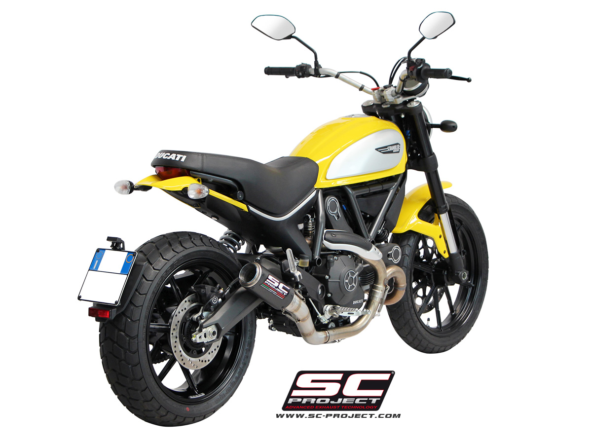 ducati scrambler cr t exhaust by sc project. Black Bedroom Furniture Sets. Home Design Ideas