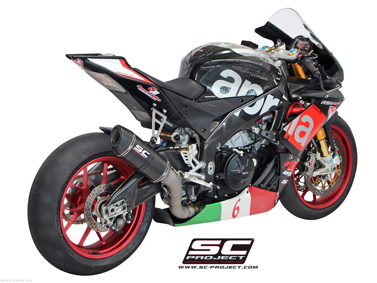oval matte carbon racing exhaust by sc project aprilia. Black Bedroom Furniture Sets. Home Design Ideas