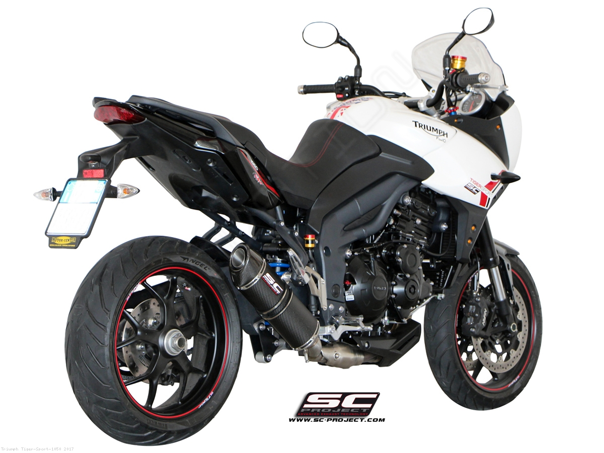 low mount oval exhaust by sc project triumph tiger sport 1050 2017 t08 l01. Black Bedroom Furniture Sets. Home Design Ideas