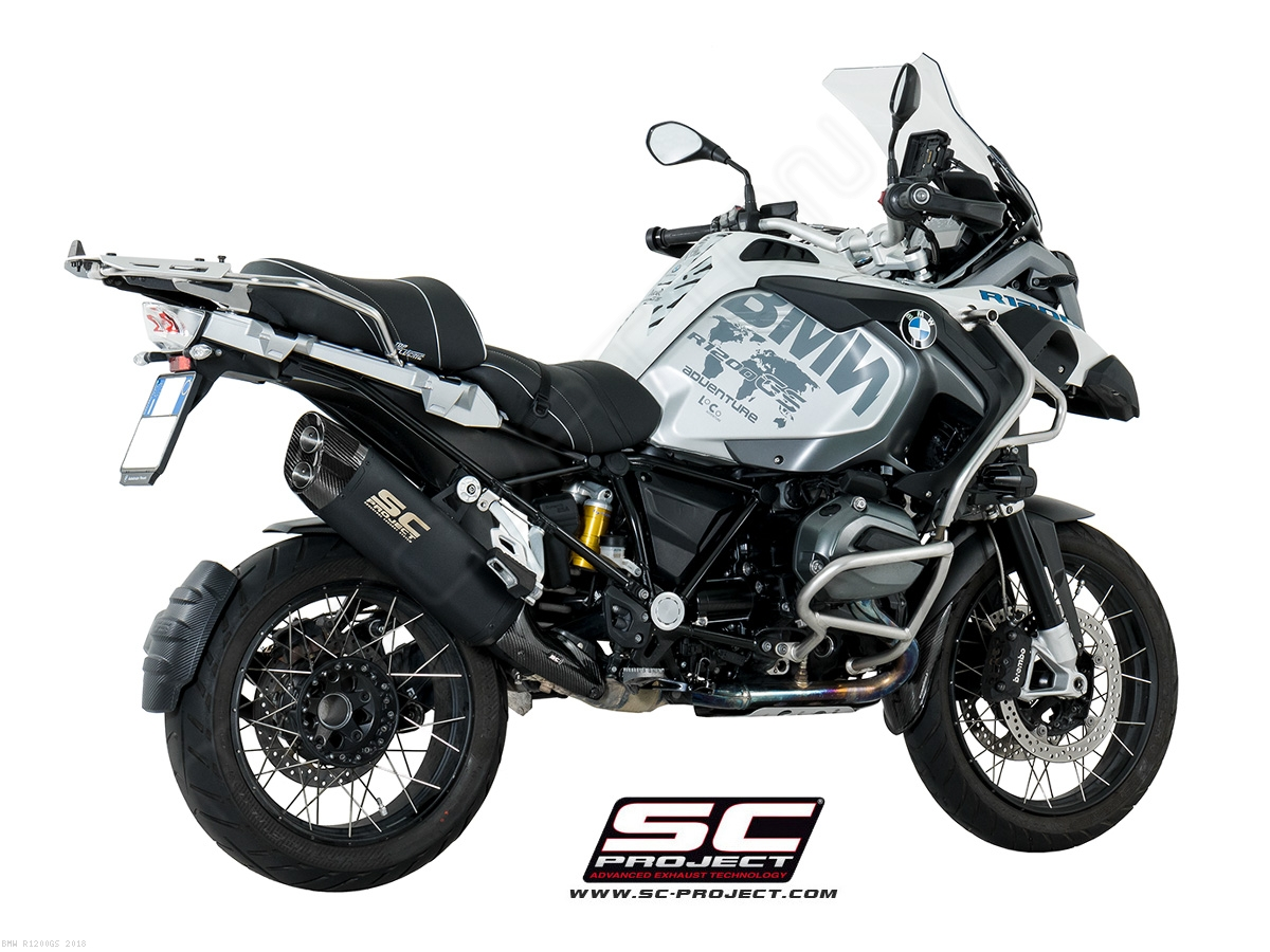 black titanium adventure exhaust by sc project bmw r1200gs 2018 b26 86mb. Black Bedroom Furniture Sets. Home Design Ideas