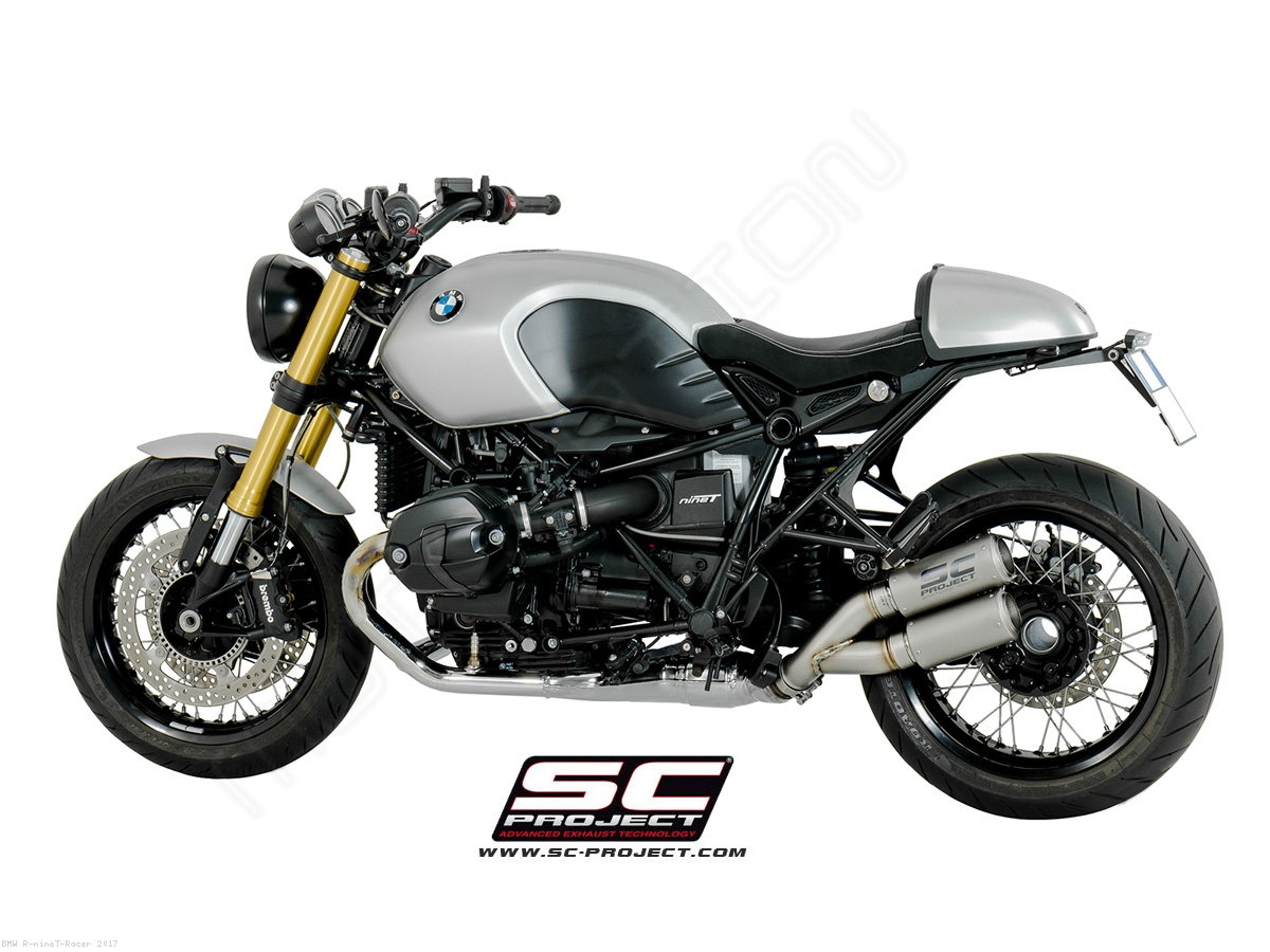 dual cr t exhaust by sc project bmw r ninet racer 2017. Black Bedroom Furniture Sets. Home Design Ideas