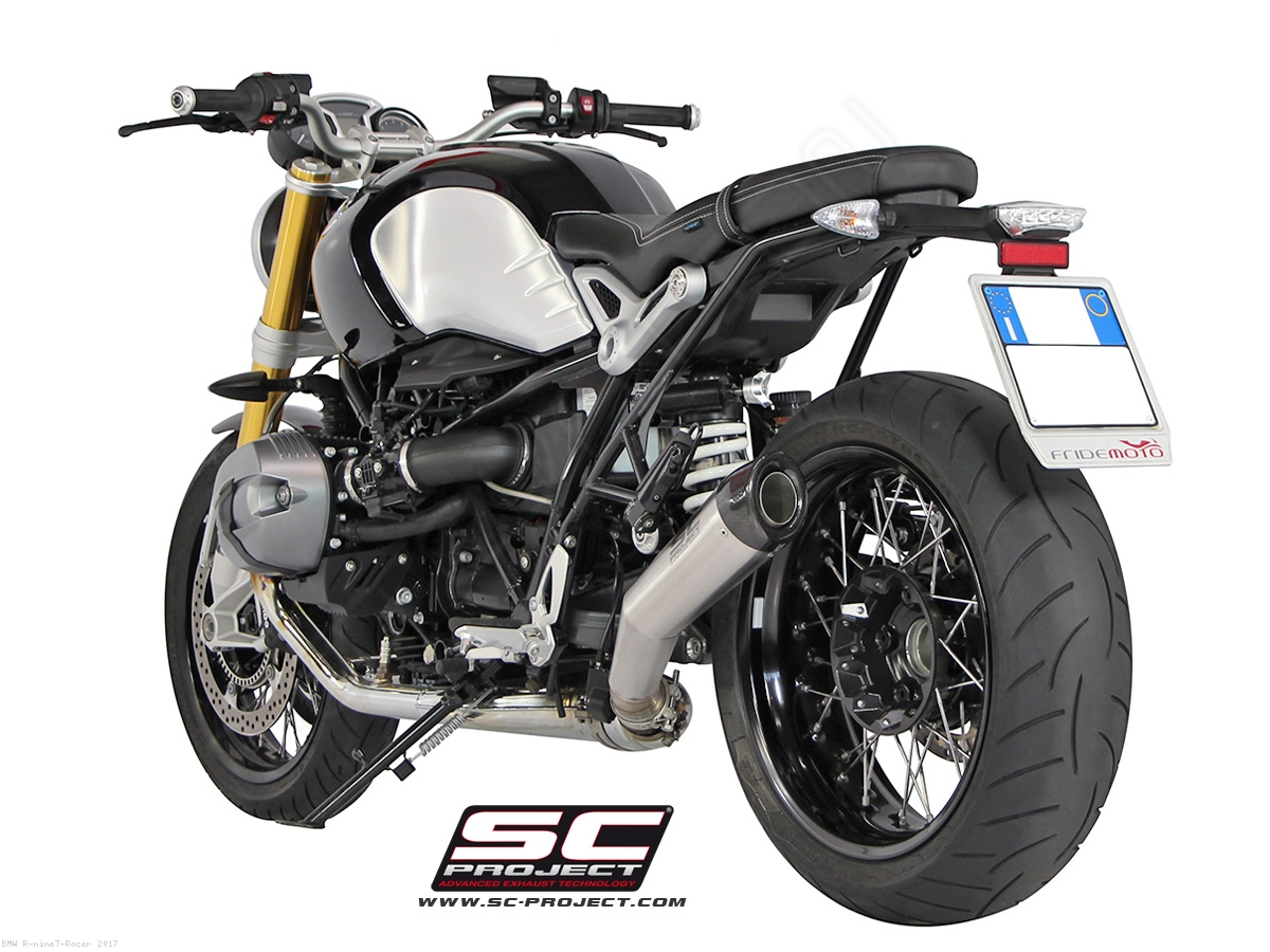 angled conic exhaust by sc project bmw r ninet racer. Black Bedroom Furniture Sets. Home Design Ideas