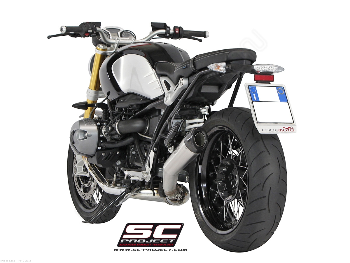 angled conic exhaust by sc project bmw r ninet pure. Black Bedroom Furniture Sets. Home Design Ideas