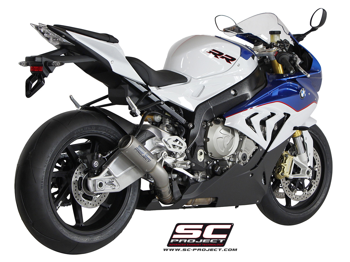 Bmw s1000rr 2015 series cr t titanium exhaust by sc project for Yamaha rr 1000