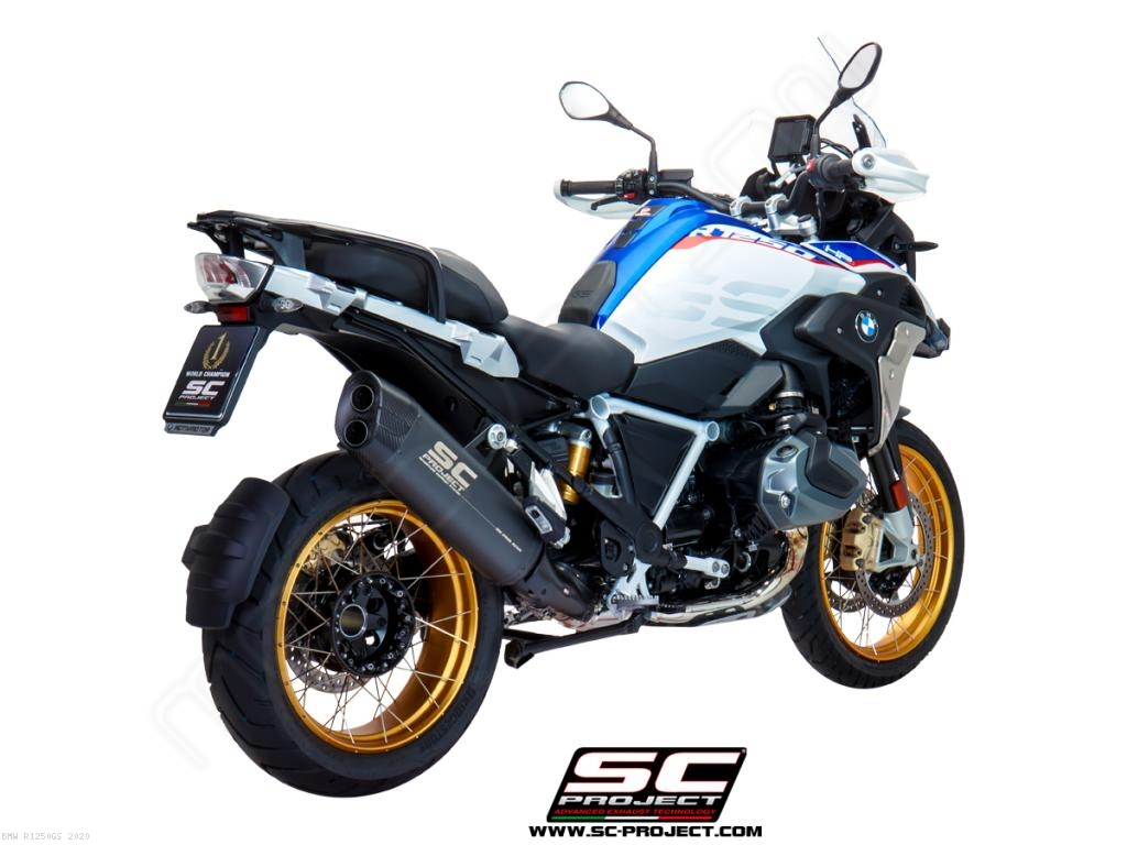 matt grey titanium adventure exhaust by sc project bmw r1250gs 2020 b30 86mg. Black Bedroom Furniture Sets. Home Design Ideas