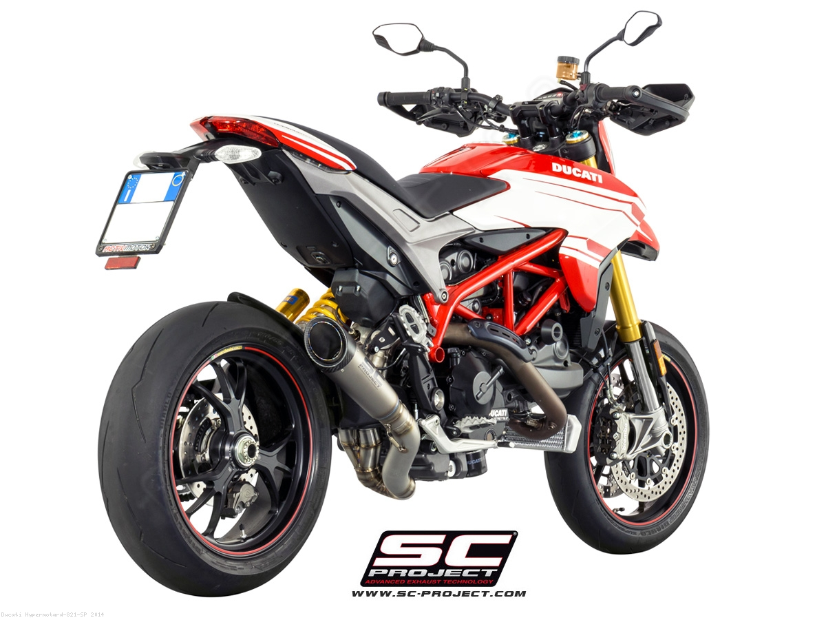 s1 titanium exhaust with flapper delete by sc project ducati hypermotard 821 sp 2014 d10 dl41t. Black Bedroom Furniture Sets. Home Design Ideas