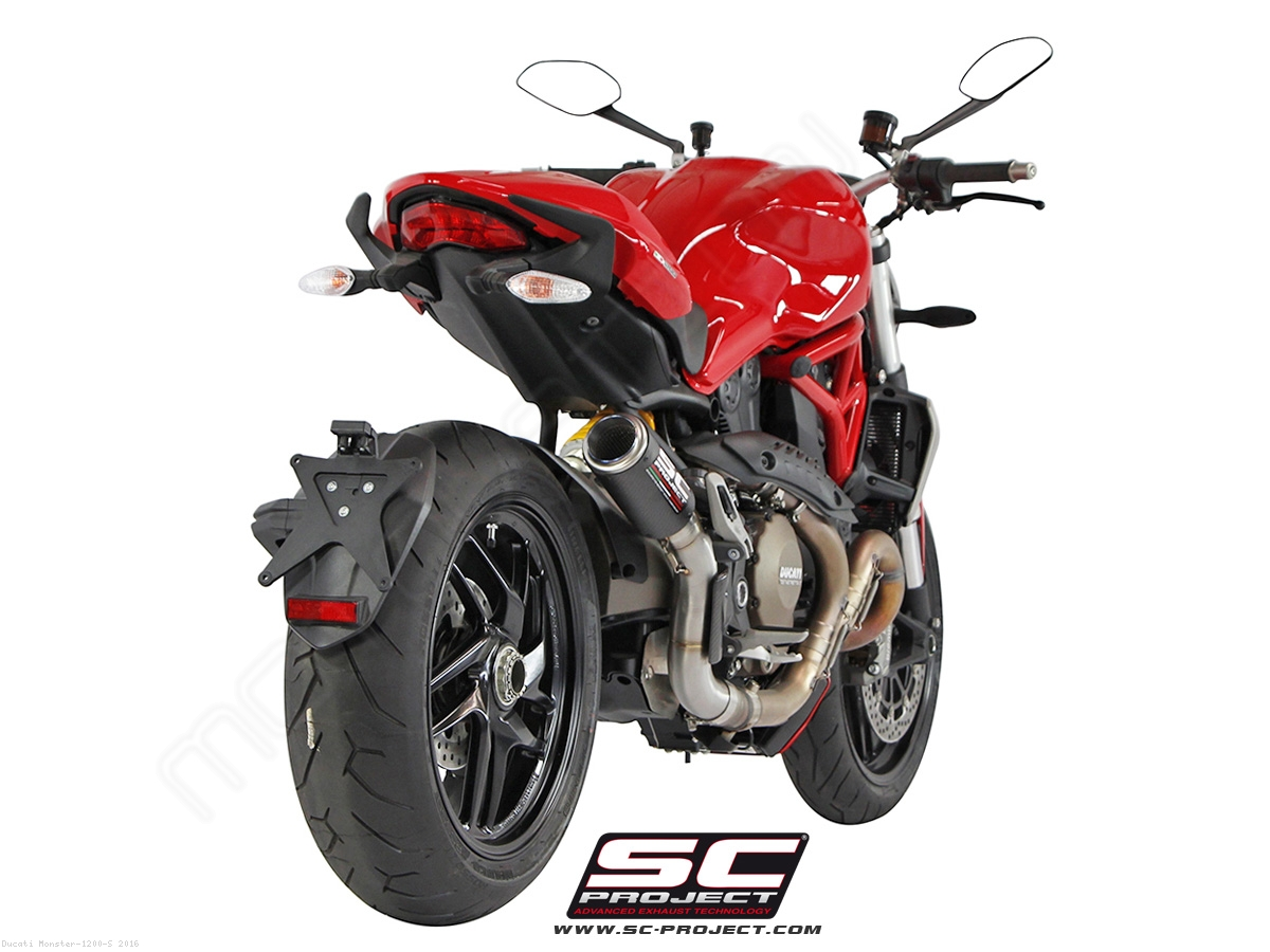 cr t exhaust by sc project ducati monster 1200 s 2016 d12 38c. Black Bedroom Furniture Sets. Home Design Ideas