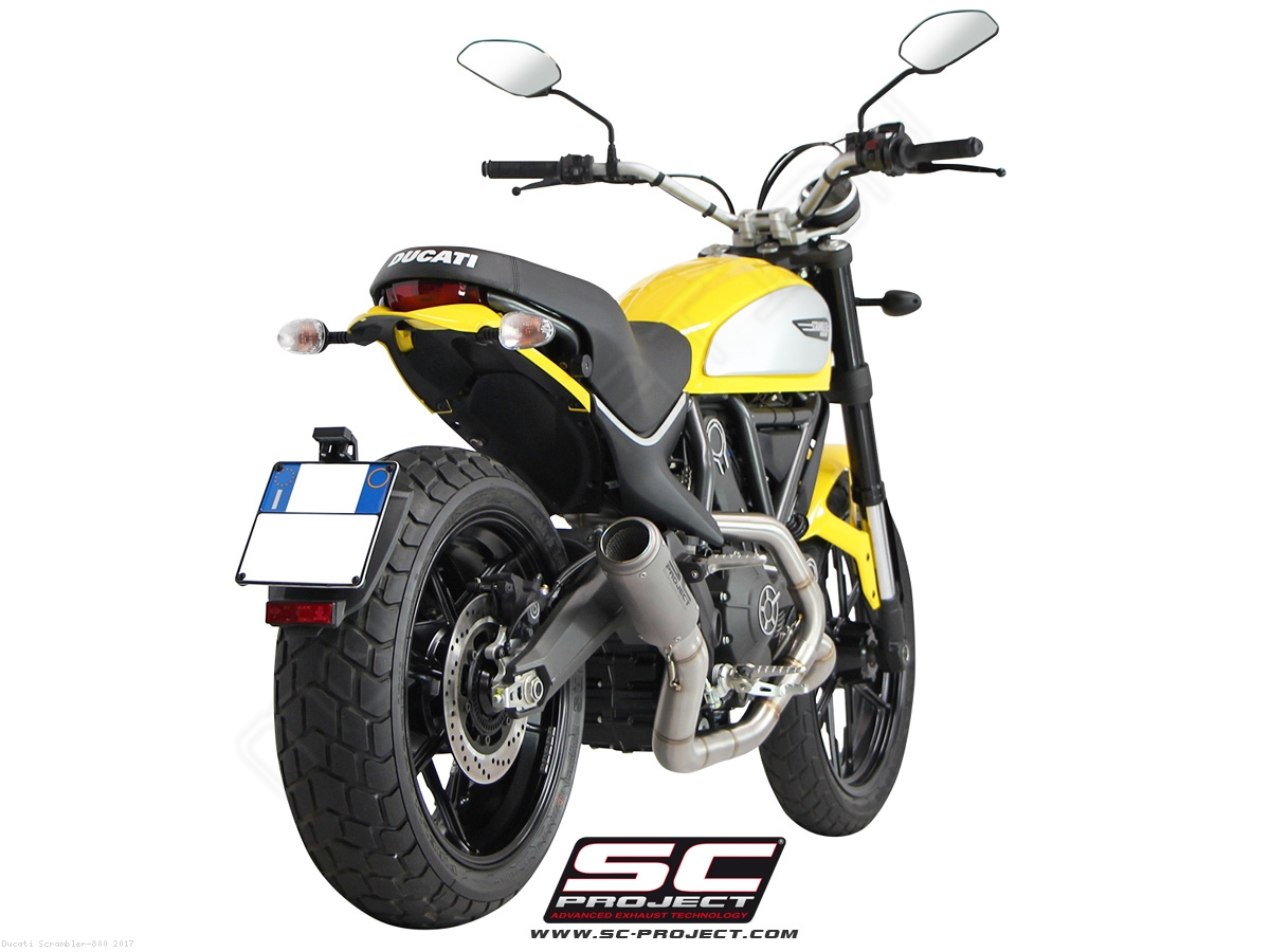 Cr T Full System Exhaust By Sc Project Ducati Scrambler 800 2017