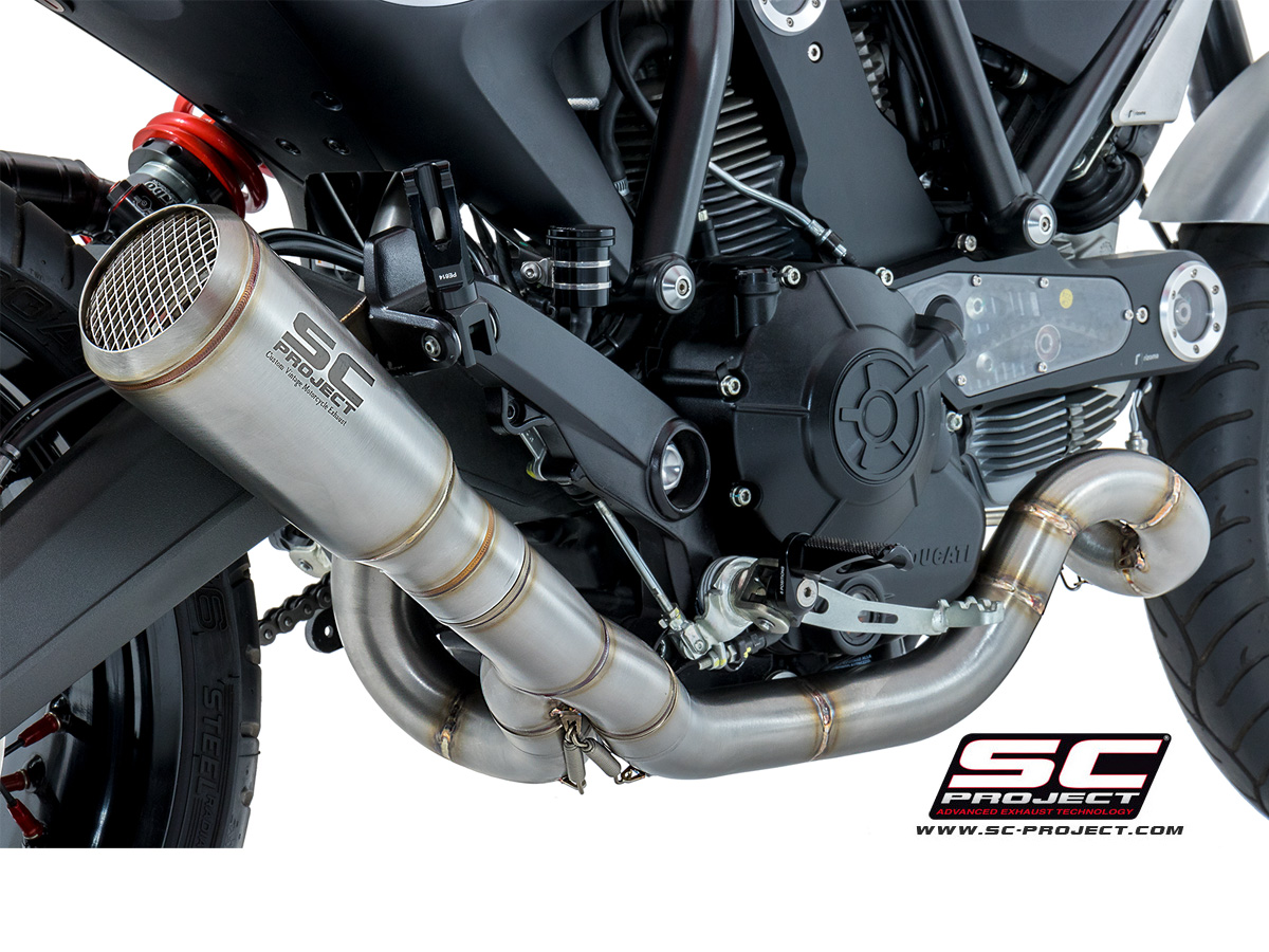 Conic Low Mount Full System Exhaust By Sc Project Ducati