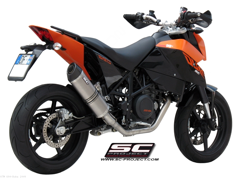 Oval Full System Exhaust by SC-Project KTM / 690 Duke / 2009 (KTM03-C02)