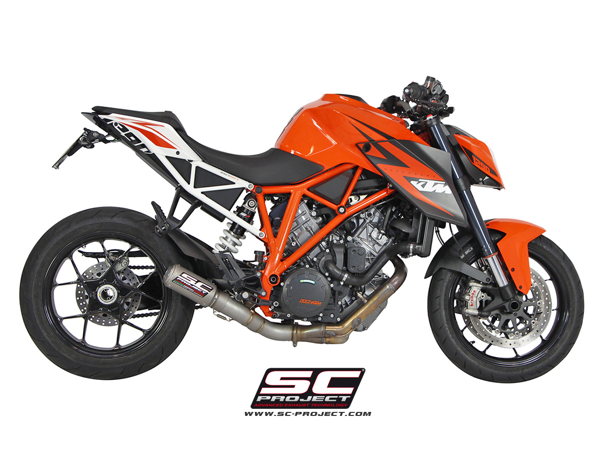 ktm 1290 super duke r cr t de cat exhaust by sc project. Black Bedroom Furniture Sets. Home Design Ideas