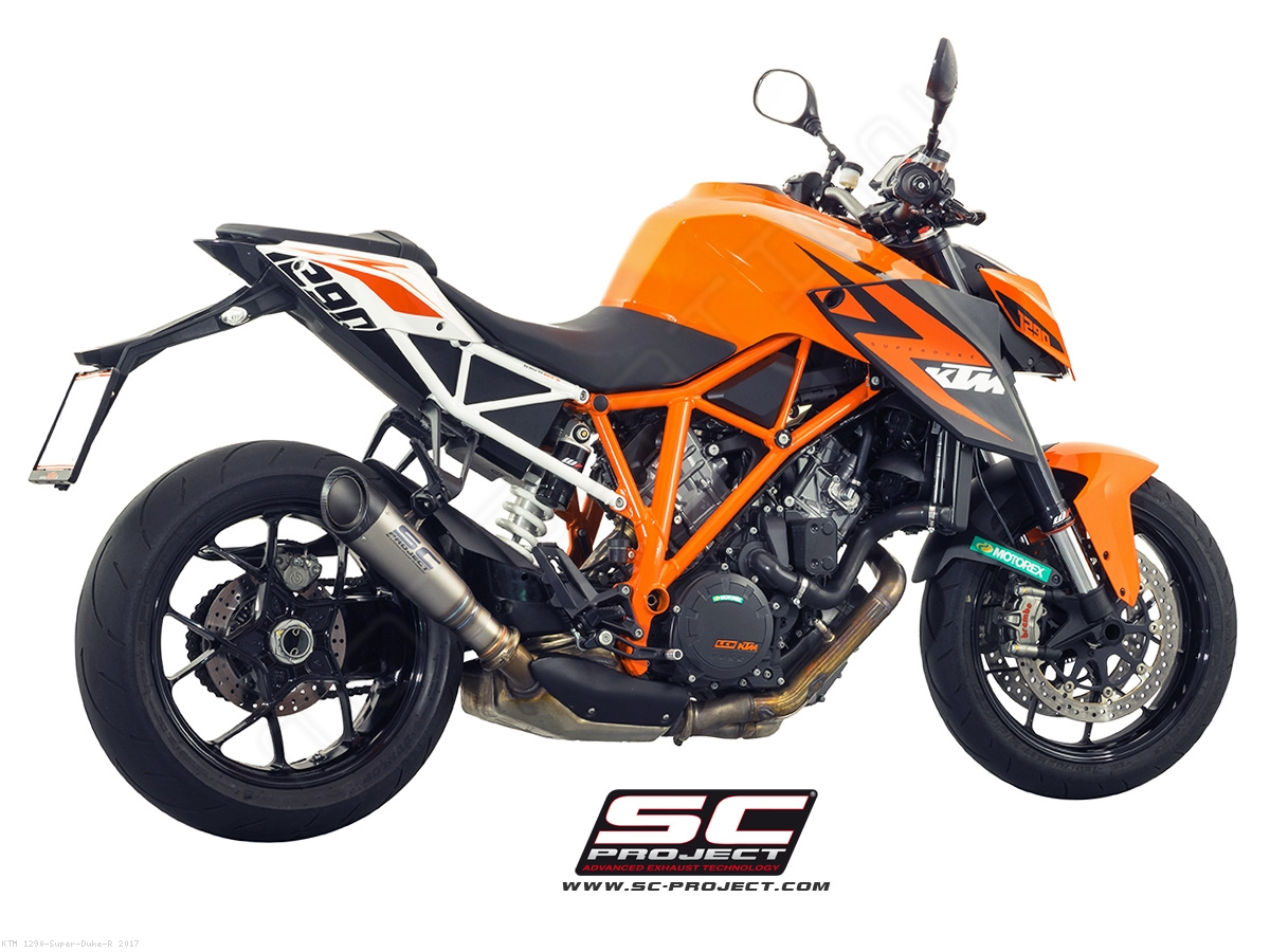 s1 exhaust by sc project ktm 1290 super duke r 2017. Black Bedroom Furniture Sets. Home Design Ideas