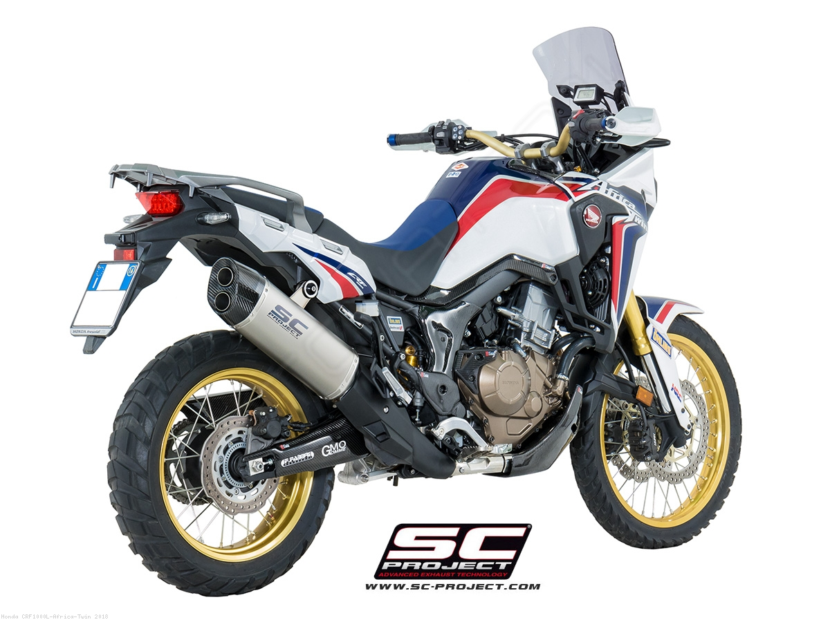 adventure exhaust honda crf1000l africa twin 2018 h16 85t. Black Bedroom Furniture Sets. Home Design Ideas
