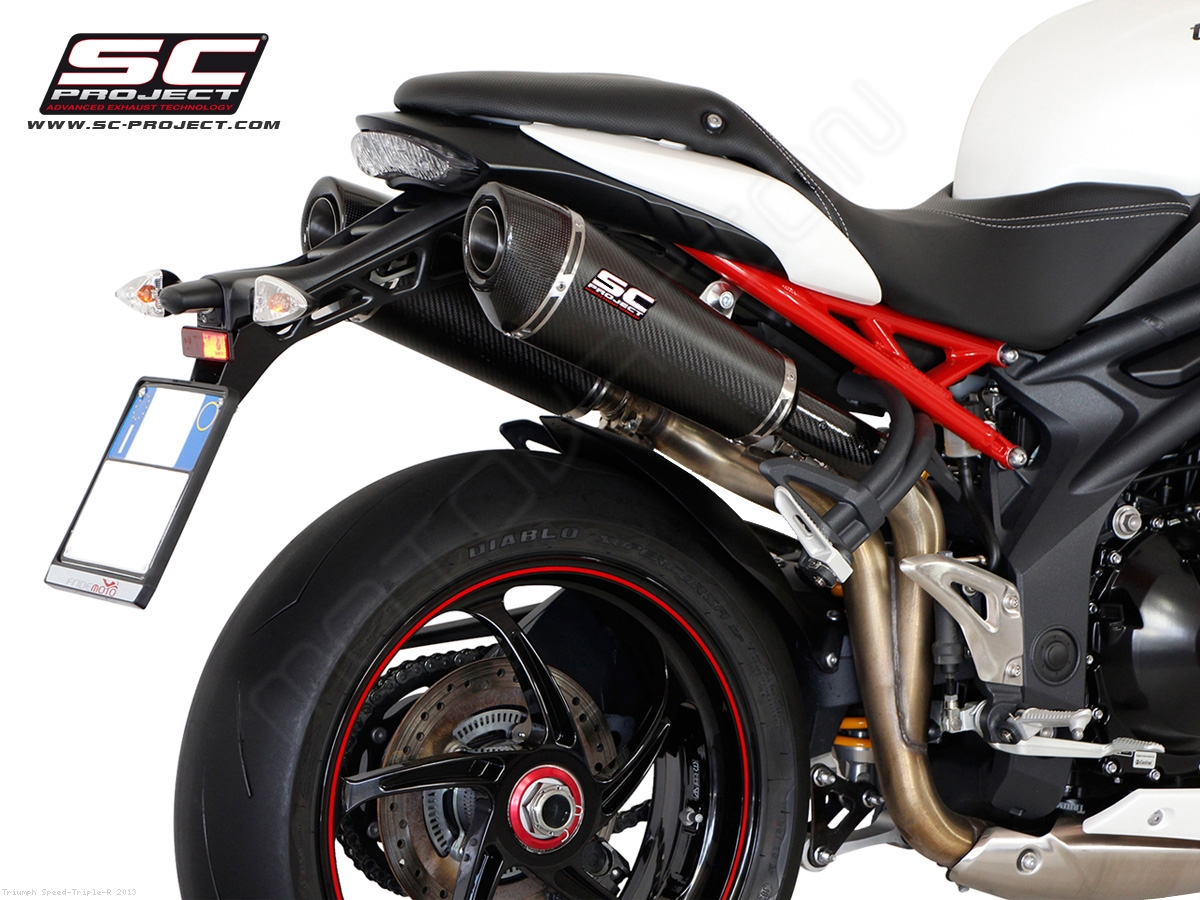Conic High Mount Exhaust by SC-Project Triumph / Speed Triple R ...