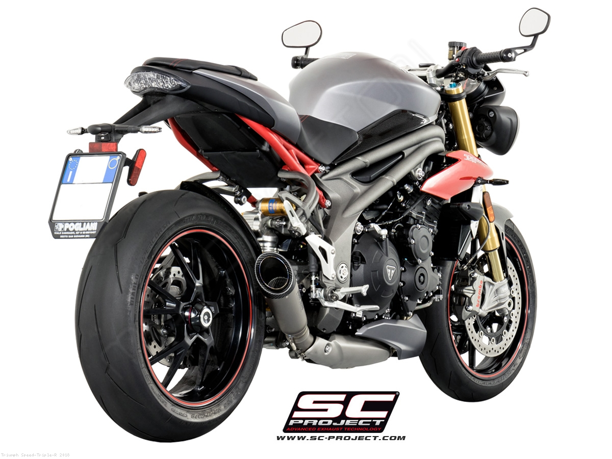s1 exhaust by sc project triumph speed triple r 2018 t16 lt41t. Black Bedroom Furniture Sets. Home Design Ideas