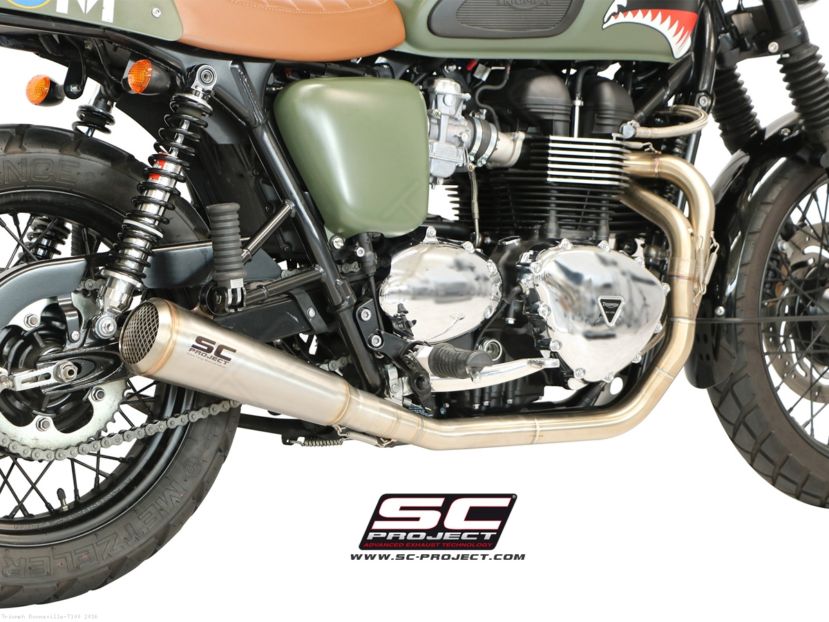 full system 2-1 conic 70s style exhaustsc-project triumph