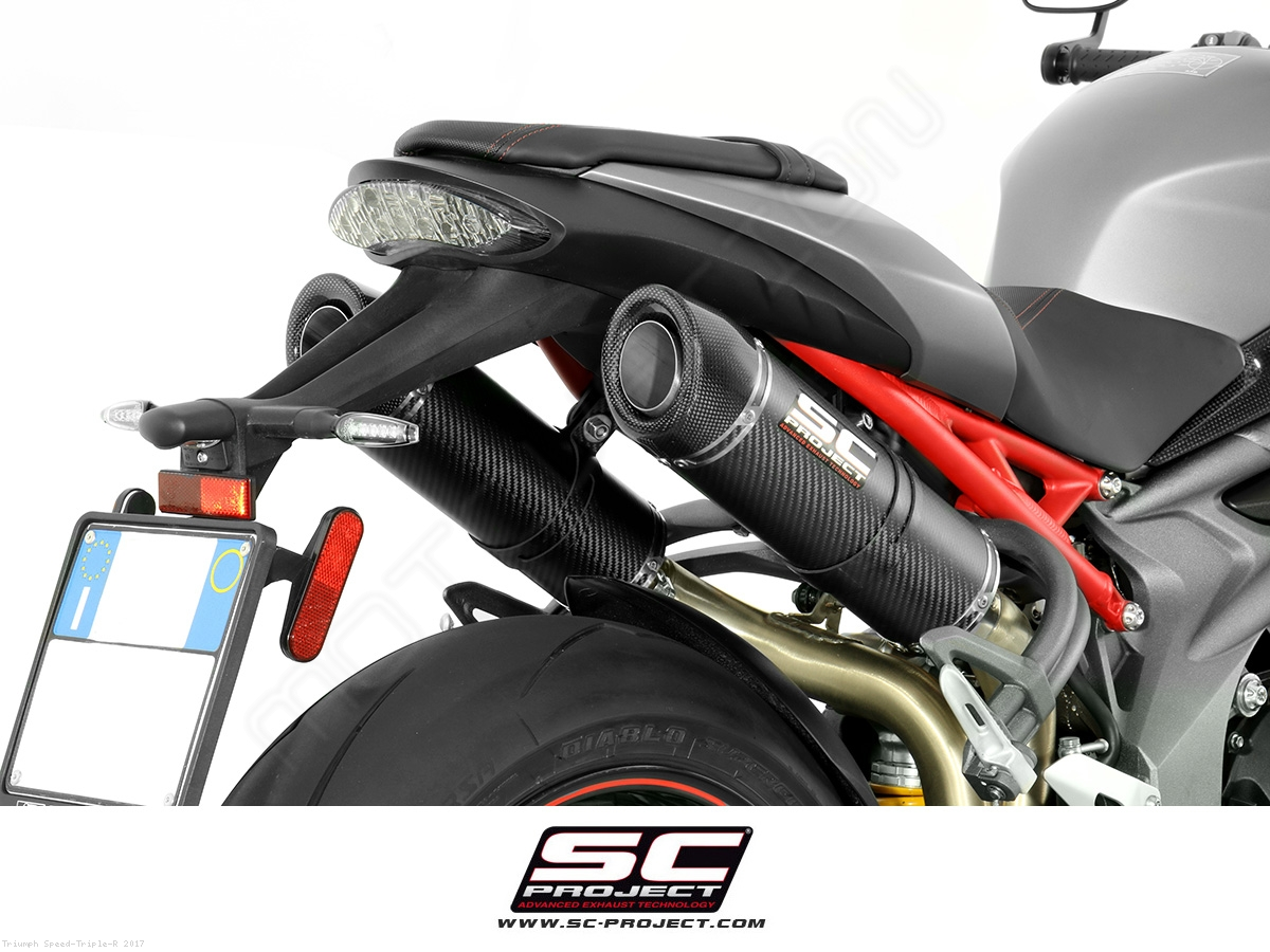 gp tech dual exhaust by sc project triumph speed triple r 2017 t16 28c. Black Bedroom Furniture Sets. Home Design Ideas
