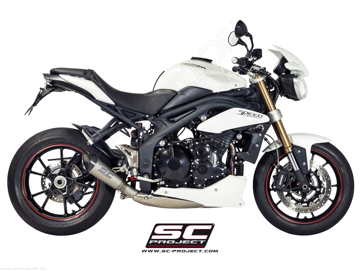 s1 exhaust by sc project triumph speed triple 1050 2012 t05 lt41t. Black Bedroom Furniture Sets. Home Design Ideas