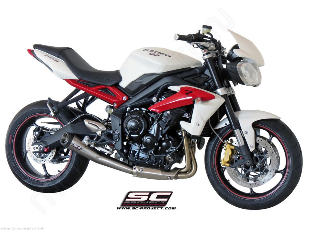 conic exhaust by sc project triumph street triple r 2016 t13 21a. Black Bedroom Furniture Sets. Home Design Ideas