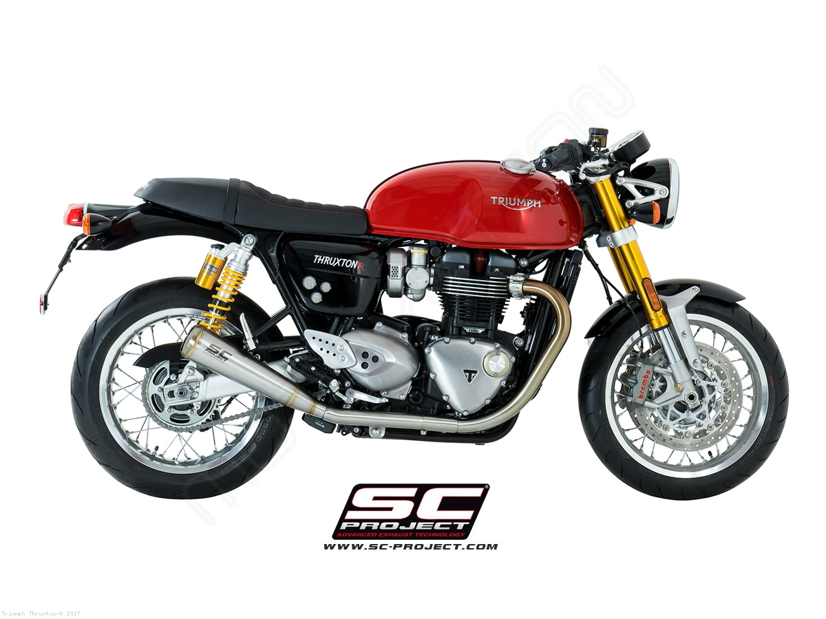 conic 70s style exhaust by sc project triumph thruxton r 2017 t11 d37a70s. Black Bedroom Furniture Sets. Home Design Ideas
