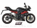 Conic Exhaust by SC-Project Triumph / Street Triple / 2015