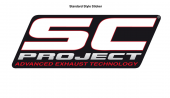 SC-Project Heat Resistant Exhaust Decal
