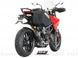 Oval Low Mount Exhaust by SC-Project Ducati / Hypermotard 821 SP / 2014