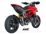 Oval High Mount Exhaust by SC-Project Ducati / Hypermotard 821 / 2014