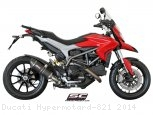 Oval Low Mount Exhaust by SC-Project Ducati / Hypermotard 821 / 2014