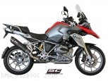 Oval Matte Carbon SC1 Exhaust by SC-Project BMW / R1200GS / 2015