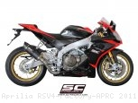 Race Oval Exhaust by SC-Project Aprilia / RSV4 Factory APRC / 2011