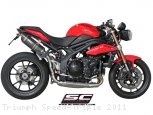 Oval High Mount Exhaust by SC-Project Triumph / Speed Triple / 2011