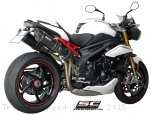 Oval High Mount Exhaust by SC-Project Triumph / Speed Triple / 2015