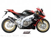 Oval Exhaust by SC-Project Aprilia / RSV4 / 2013