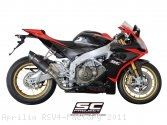 Race Oval Exhaust by SC-Project Aprilia / RSV4 Factory / 2011