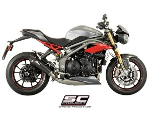Low Mount Matte Carbon Conic Exhaust by SC-Project