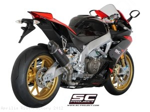 Race Oval Exhaust by SC-Project Aprilia / RSV4 Factory / 2012