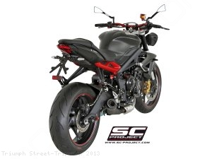 Conic Matte Black Exhaust by SC-Project Triumph / Street Triple R / 2013