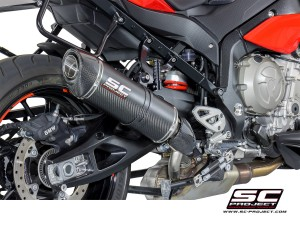 Matte Carbon High Mount Oval Exhaust by SC-Project