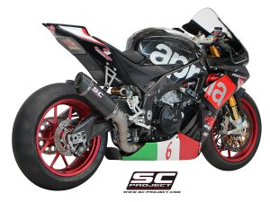 Oval Matte Carbon Racing Exhaust by SC-Project