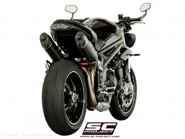 Oval High Mount Exhaust by SC-Project Triumph / Speed Triple S / 2017